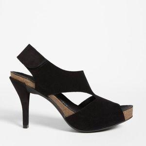 Pedro Garcia Luna Slingback Black Suede Sandals
